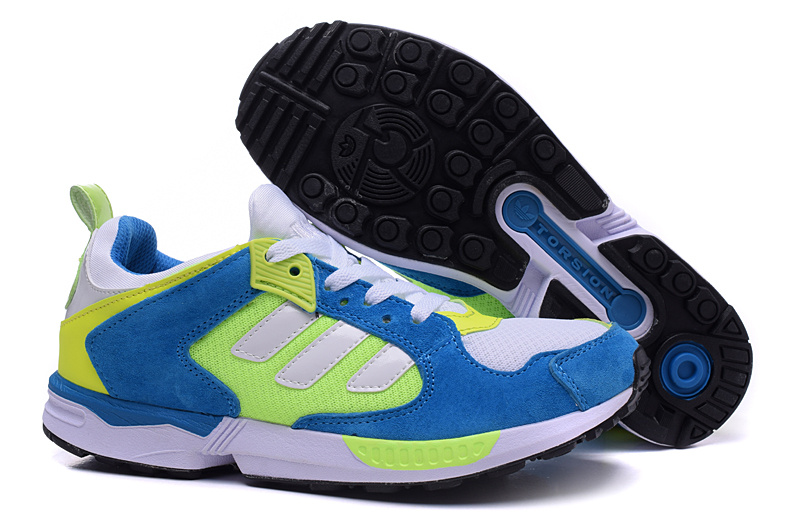 Men's/Women's Adidas Originals ZX 5000 RSPN Shoes Bold Blue/Fluorescent/Runwhite M18218