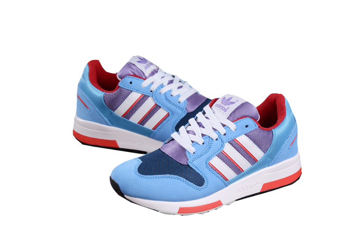 Men\'s Adidas Originals ZX 420 Shoes Sky Blue/Light Violet/Melon