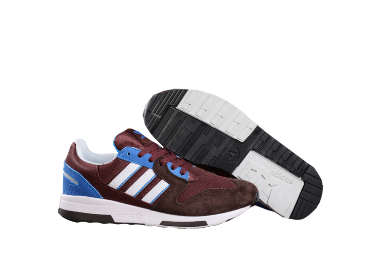 Men's Adidas Originals ZX 420 Shoes Coffee/White/Blue