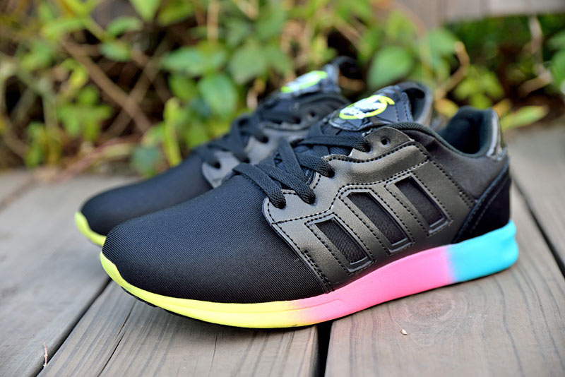 "Women's Adidas Originals ZX 500 II Rita Ora ""Colourblock"" Shoes Black/Yellow/Pink/Blue M35519"