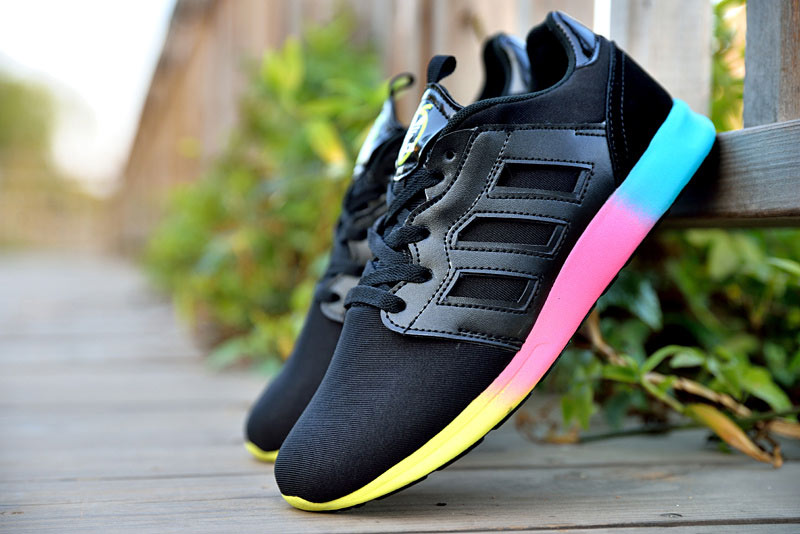 "Women\'s Adidas Originals ZX 500 II Rita Ora ""Colourblock\"" Shoes Black/Yellow/Pink/Blue M35519"