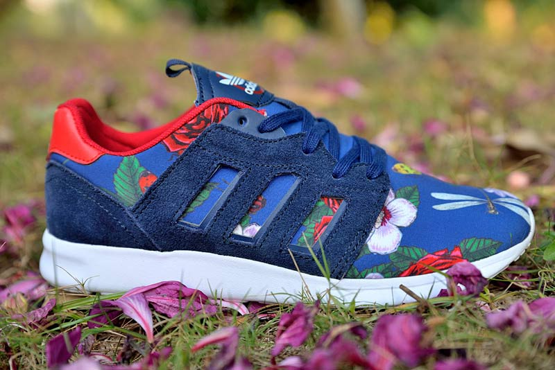 "Women's Adidas Originals ZX 500 II ""Floral Concept"" Shoes Blue/Rose"