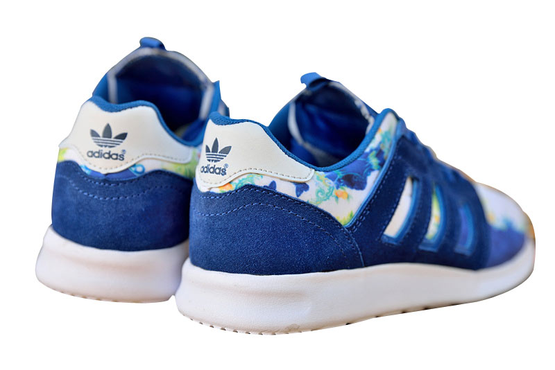 "Women\'s Adidas Originals ZX 500 II ""Floral Concept\"" Shoes Collegiate Royal White M21254"