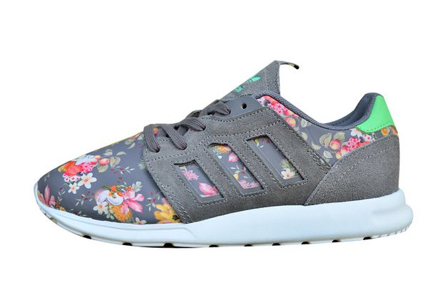 "Women\'s Adidas Originals ZX 500 II ""Floral Concept\"" Shoes Stone Grey/Stone Grey/St Tropic Melon M20893"