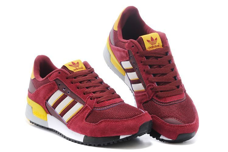 Men\'s/Women\'s Adidas Originals ZX 630 Shoes Burgundy/Running White/Sun M25546