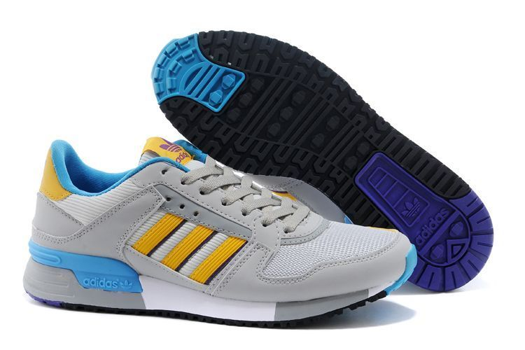 Men's/Women's Adidas Originals ZX 630 Shoes LG Solid Grey/Bright Yellow/Rich Purple M25551
