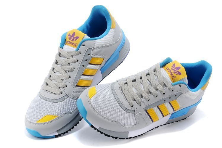Men\'s/Women\'s Adidas Originals ZX 630 Shoes LG Solid Grey/Bright Yellow/Rich Purple M25551