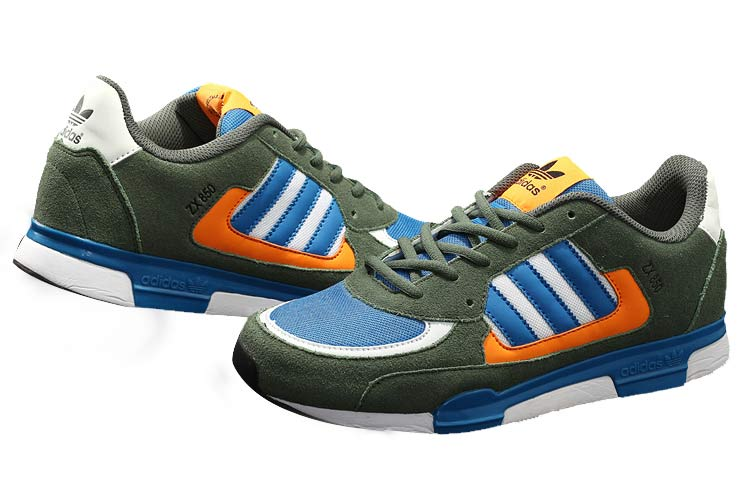 Men\'s/Women\'s Adidas Originals ZX 850 Shoes Army Green/Blue 65888