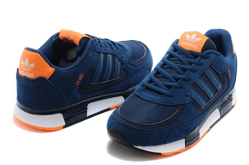 Men\'s/Women\'s Adidas Originals ZX 850 Shoes Tribal Blue/Tribal Blue/New Navy M22567