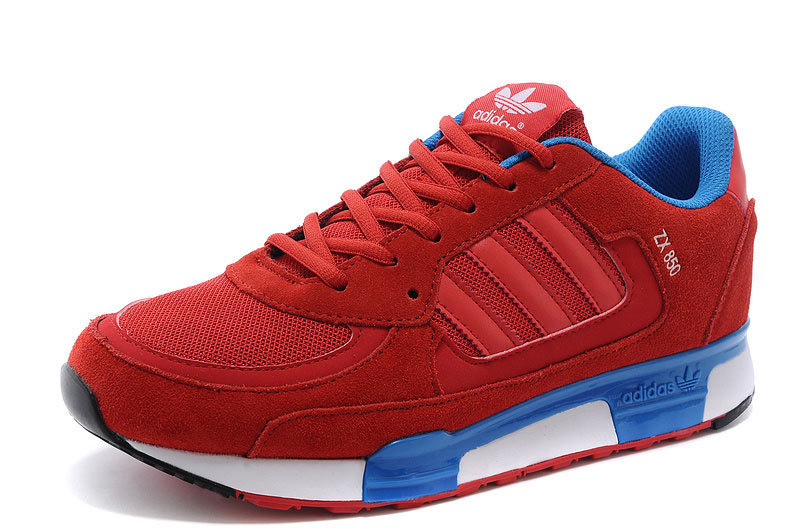 Men's/Women's Adidas Originals ZX 850 Shoes Cardinal/Bluebird/Black/White D65240
