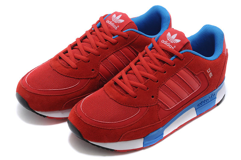 Men\'s/Women\'s Adidas Originals ZX 850 Shoes Cardinal/Bluebird/Black/White D65240