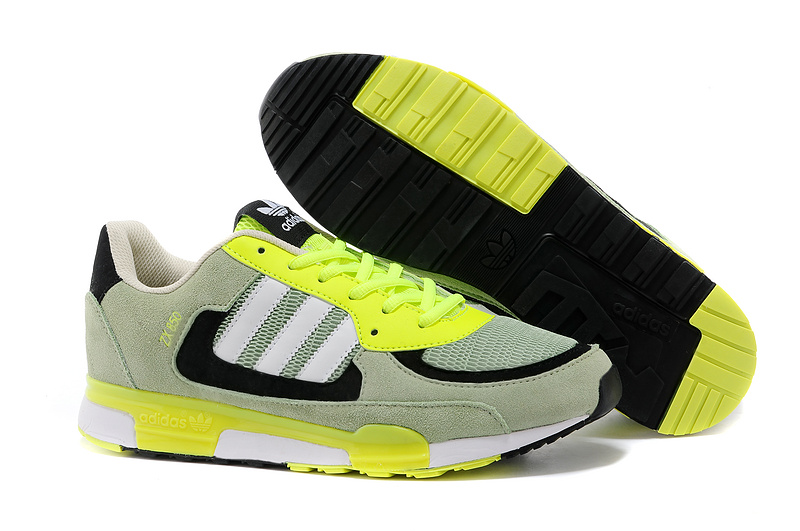 Men's/Women's Adidas Originals ZX 850 Shoes Green/Running White Ftw/Electricity D65237