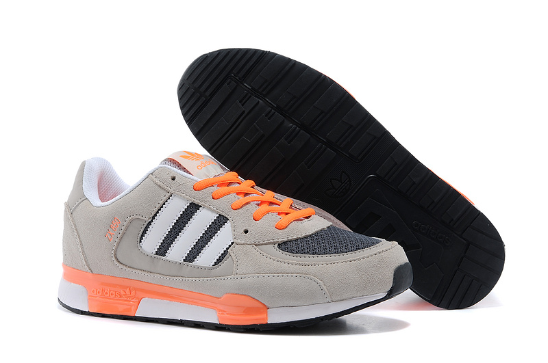 Men's/Women's Adidas Originals ZX 850 Shoes Wolf Grey/Orange Q22081