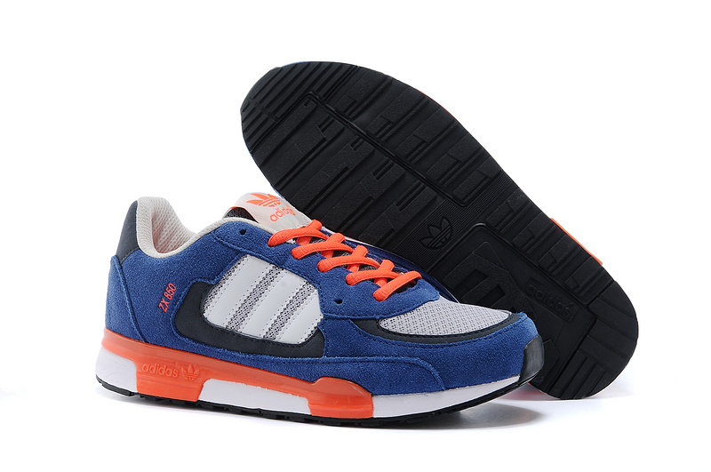 Men's/Women's Adidas Originals ZX 850 Shoes Iron Blue/Bright Red Q22084