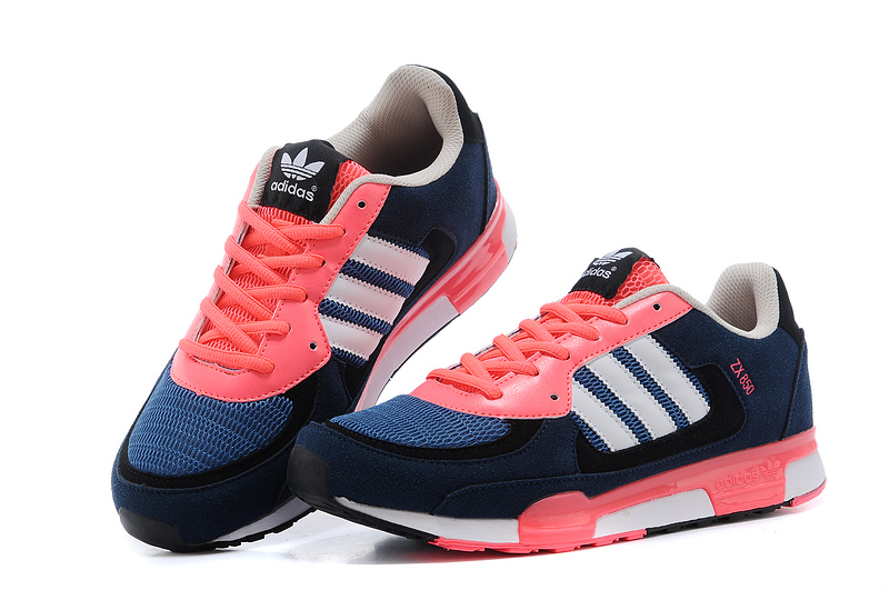 Men\'s/Women\'s Adidas Originals ZX 850 Shoes True Blue/Red Zest D65238