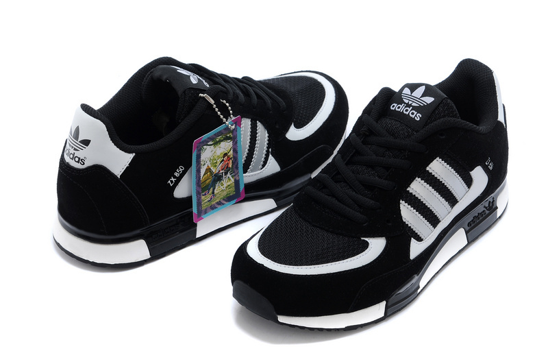 Men\'s Adidas Originals ZX 850 Shoes Black/White Q22088