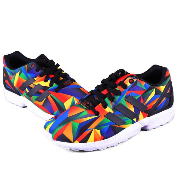 Men\'s/Women\'s adidas Originals ZX Flux Shoes White/Collegiate Navy/Red S81651
