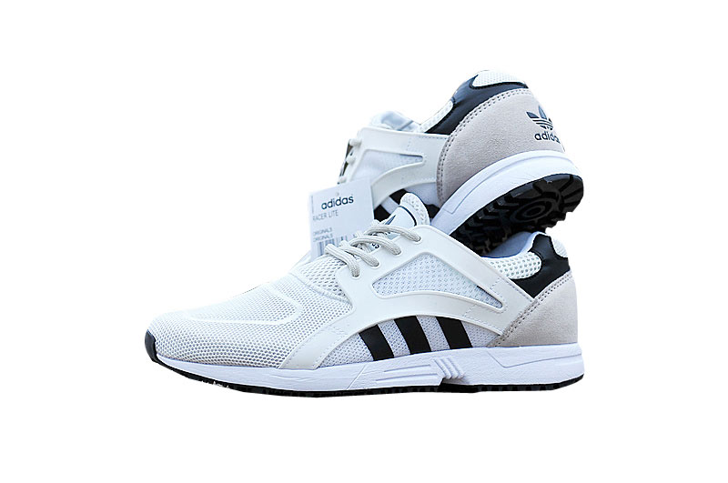 Men\'s/Women\'s adidas Originals ZX Flux Racer Lite Shoes White/Core Black/Core Black B35806