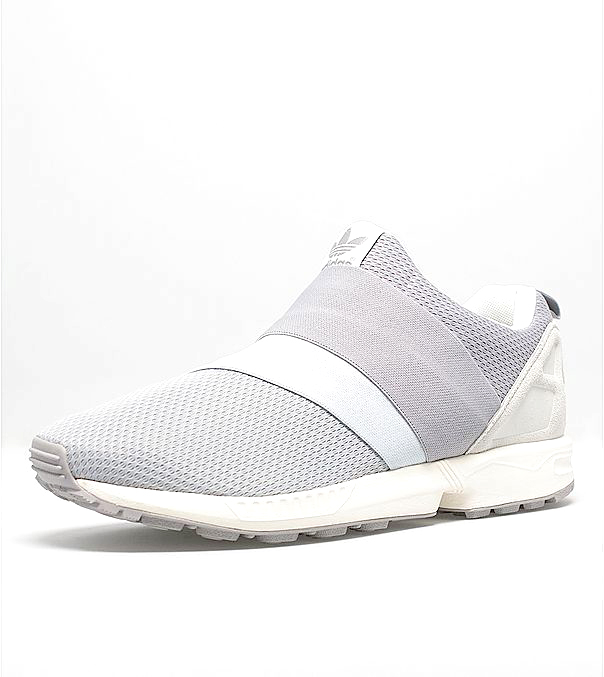 Men\'s adidas Originals ZX Flux Slip-On Shoes Wolf Grey/Running White B34454