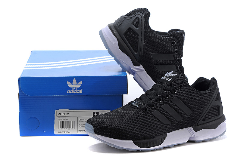 Men\'s adidas Originals ZX Flux Shoes Black/Grey M34909