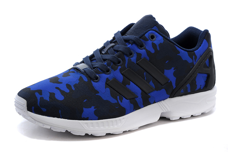 Men's adidas Originals ZX Flux Shoes Black/Cobalt Blue S77304