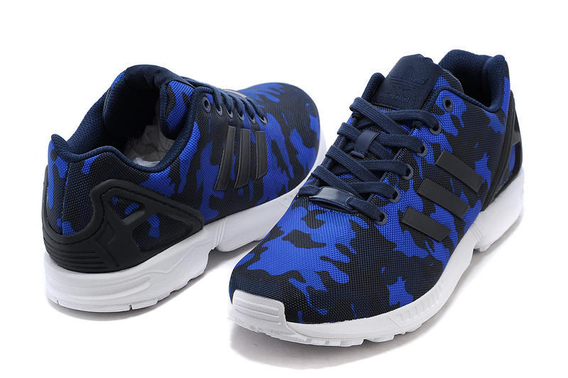 Men\'s adidas Originals ZX Flux Shoes Black/Cobalt Blue S77304