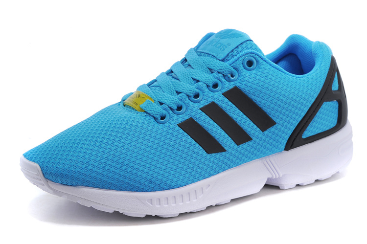 Men's adidas Originals ZX Flux Shoes Solar Blue/Solar Blue/Core Black M19839