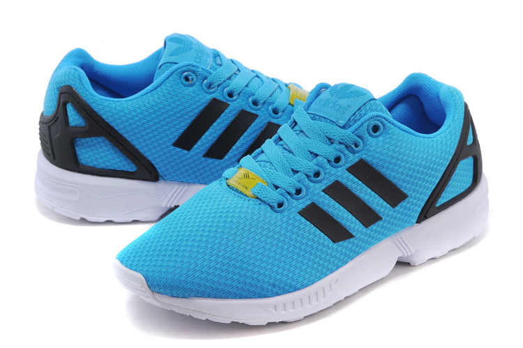 Men\'s adidas Originals ZX Flux Shoes Solar Blue/Solar Blue/Core Black M19839