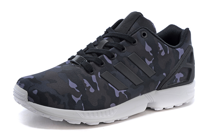 Men's adidas Originals ZX Flux Shoes Core Black/Metallic Grey Camo B24388