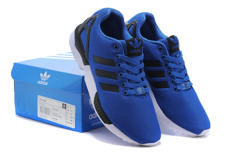 Men\'s adidas Originals ZX Flux Shoes Bold Blue/Runing White