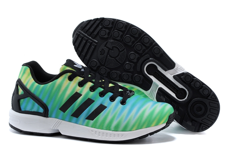 Men's adidas Originals ZX Flux Print Shoes Fruit Green/Black