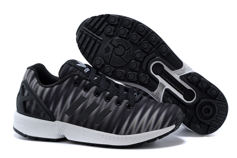 Men's adidas Originals ZX Flux Print Shoes Charcoal Grey/White/Black