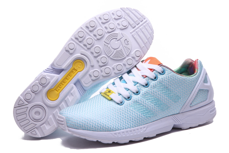 Women's Adidas Originals ZX Flux Weave W Shoes Bright Cyan/White/Black M21371