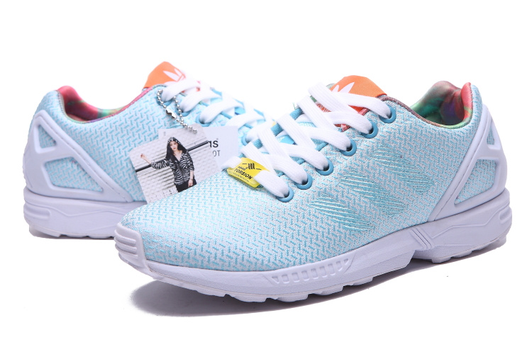 Women\'s Adidas Originals ZX Flux Weave W Shoes Bright Cyan/White/Black M21371