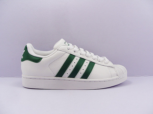 Men's/Women's Adidas Originals Superstar 80s Vintage Deluxe Shoes Vintage White/Collegiate Green/Off White B35981