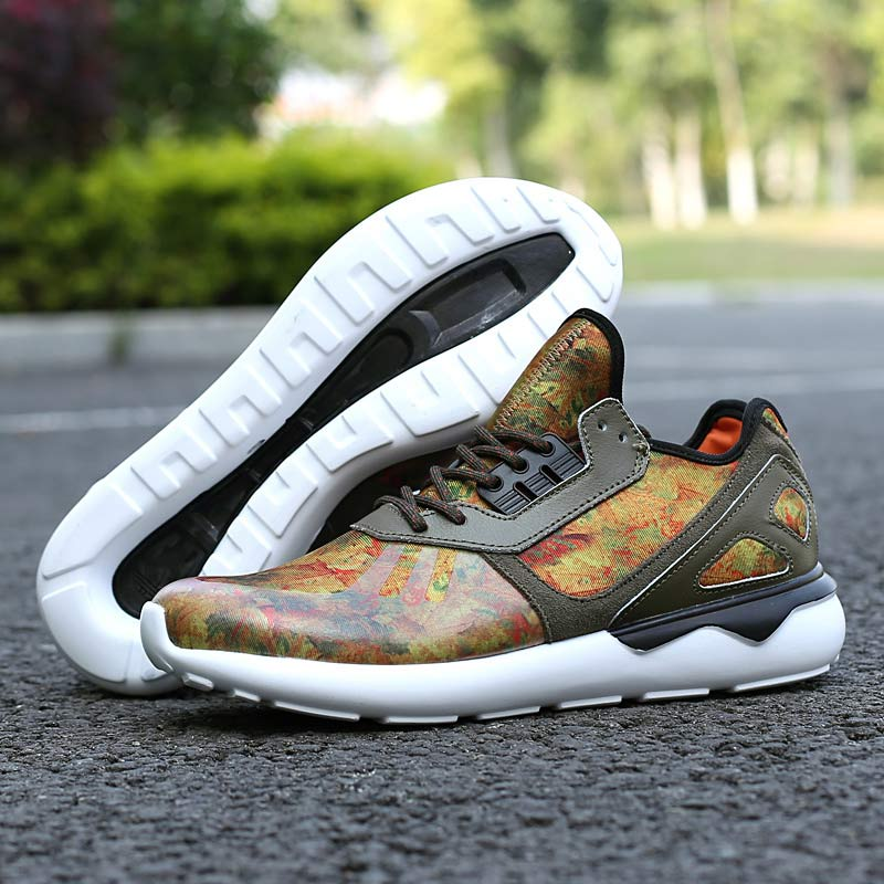 Men's/Women's Adidas Originals Tubular Running Shoes Leaf Camo D68976