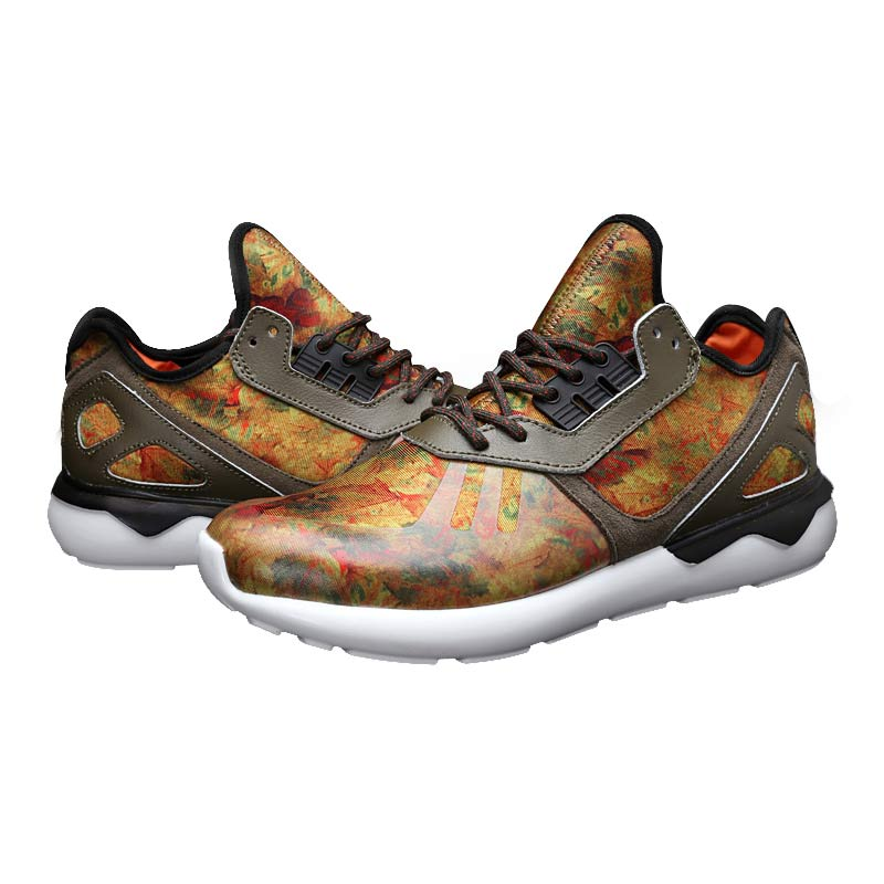 Men\'s/Women\'s Adidas Originals Tubular Running Shoes Leaf Camo D68976