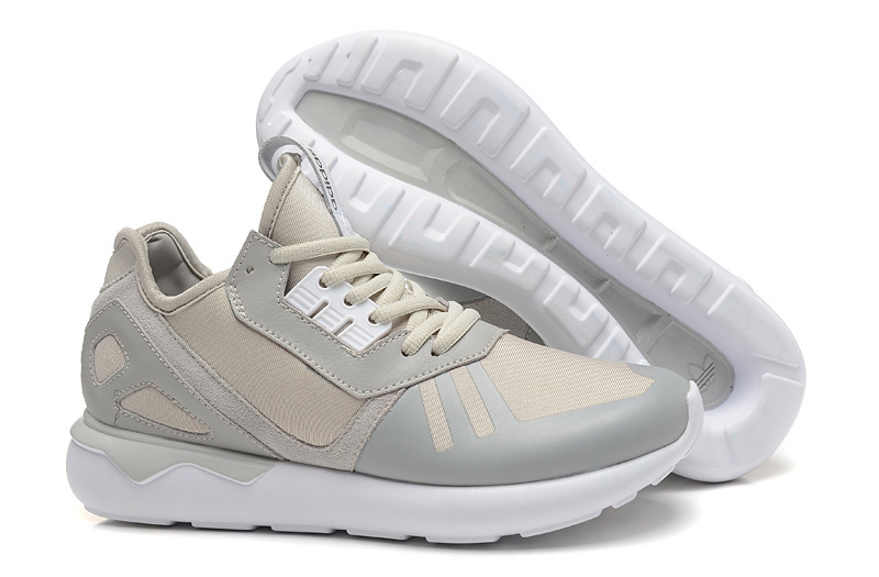 Men's/Women's Adidas Originals Tubular Running Shoes Grey/White B41275