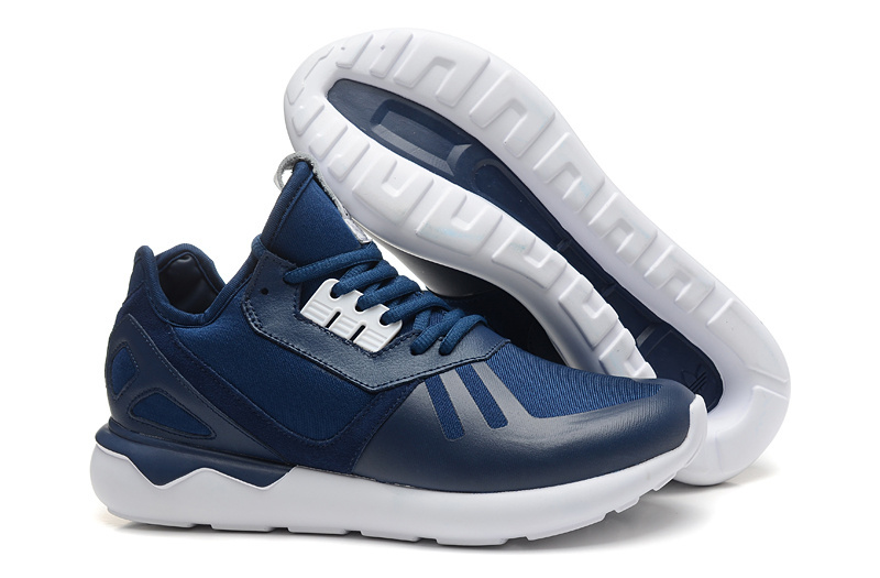 Men's/Women's Adidas Originals Tubular Running Shoes Navy/White B41273
