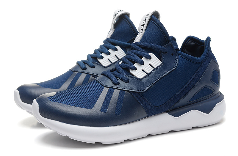 Men\'s/Women\'s Adidas Originals Tubular Running Shoes Navy/White B41273