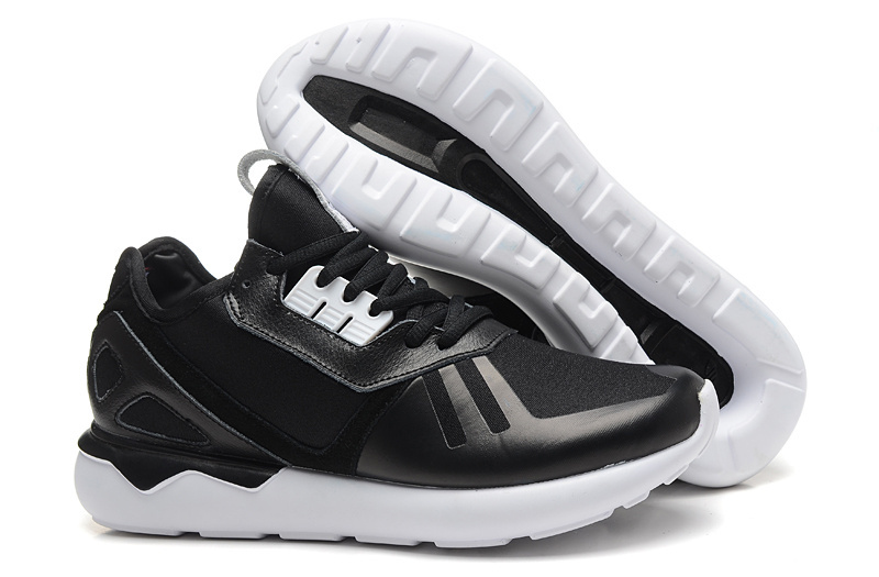 Men's/Women's Adidas Originals Tubular Running Shoes Black/White B41272