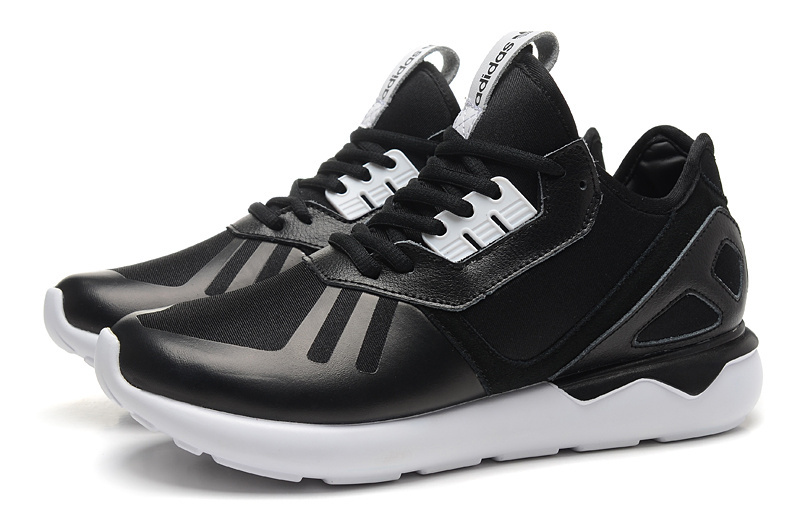 Men\'s/Women\'s Adidas Originals Tubular Running Shoes Black/White B41272