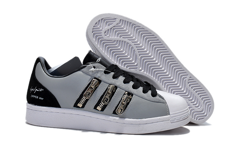 "Men's/Women's Adidas Y-3 ""Zipper Star"" LifeStyle Shoes Metallic Grey/Black/Running White B25715"
