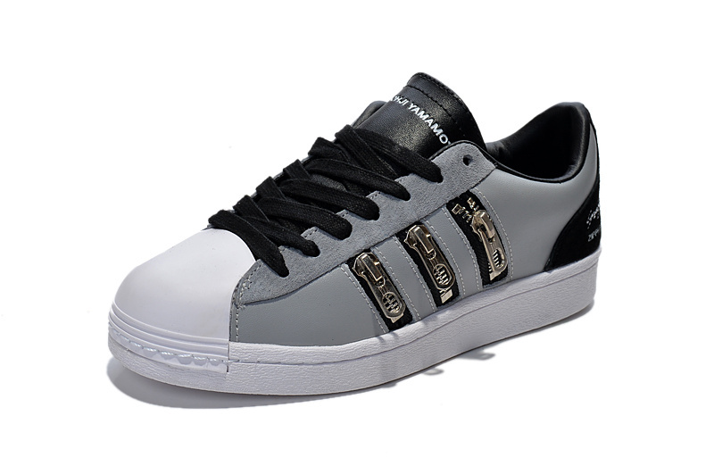 "Men\'s/Women\'s Adidas Y-3 ""Zipper Star\"" LifeStyle Shoes Metallic Grey/Black/Running White B25715"