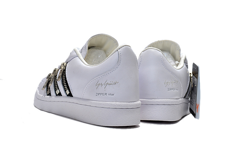 "Men\'s/Women\'s Adidas Y-3 ""Zipper Star\"" LifeStyle Shoes White B82536"