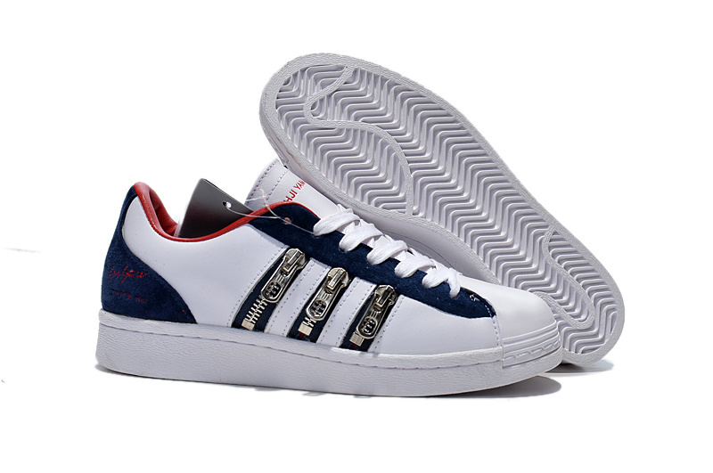 "Men's/Women's Adidas Y-3 ""Zipper Star"" LifeStyle Shoes White/Blue/Red B12580"
