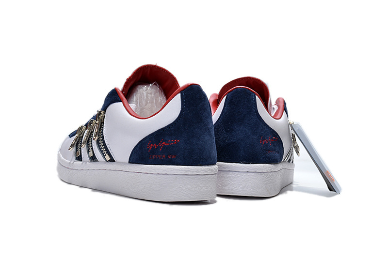 "Men\'s/Women\'s Adidas Y-3 ""Zipper Star\"" LifeStyle Shoes White/Blue/Red B12580"