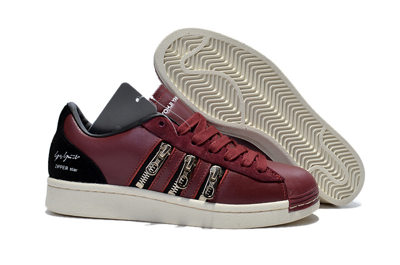"Men's/Women's Adidas Y-3 ""Zipper Star"" LifeStyle Shoes Burgundy B63586"