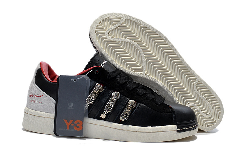 "Men's/Women's Adidas Y-3 ""Zipper Star"" LifeStyle Shoes Black/University Red B34773"