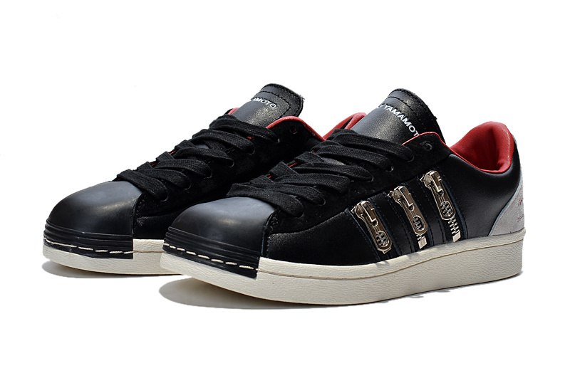 "Men\'s/Women\'s Adidas Y-3 ""Zipper Star\"" LifeStyle Shoes Black/University Red B34773"